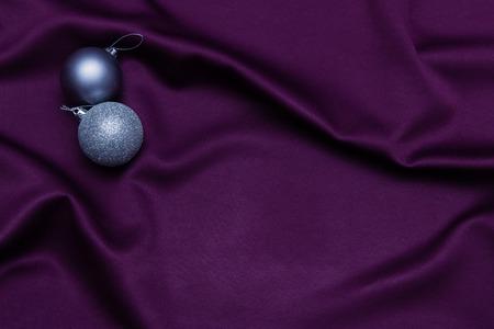 cosily: Christmas decoration on purple background.