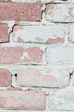 dirty room: Picturesque Shabby Vintage Retro Urban Brick Wall Background vertical.