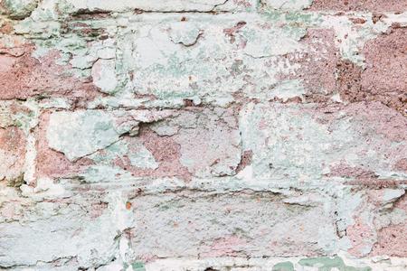 dirty room: Shabby Vintage Retro Urban Beautiful Brick Wall Background Horizontal.