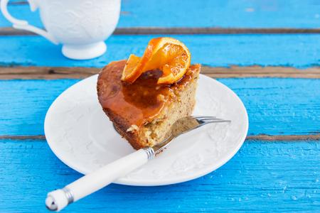 Almond cake orange. 写真素材