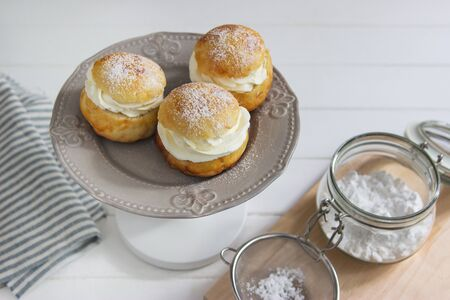 Fastelavn buns traditional sweet from Northern Europe