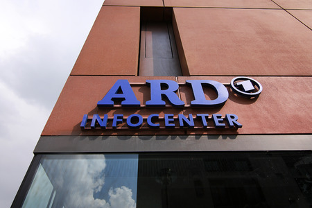 ard: The main office of ARD television in berlin - Germany - 17.04.2012.