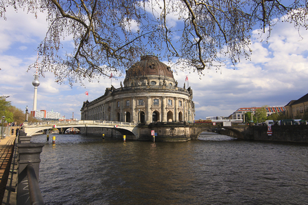 bode: Bode Museum, TV-Tower and the river Sprea Berlin, Germany - 17.04.2016 .. Editorial