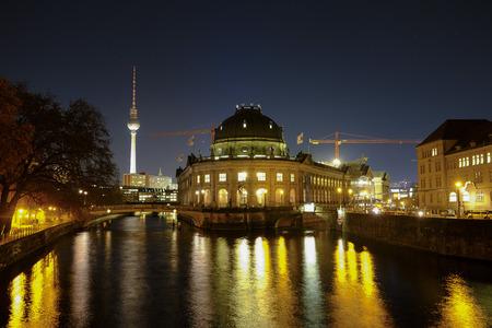 Bode Museum at night. Berlin, Germany - 29.11.2016.