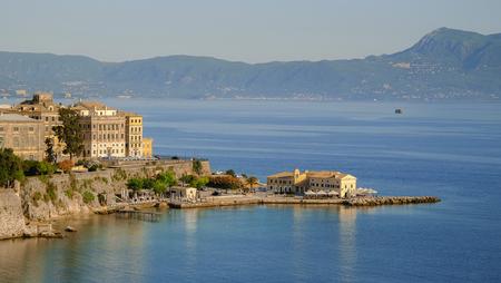 View on the old town of Kerkyra on the island Corfu, Greece. Stock Photo