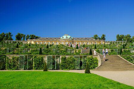 POTSDAM, GERMANY - AUGUST 29, 2017:  Sans-Souci Palace in Posdam in Germany.