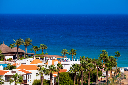 View on Butihondo close to Costa Calma on the Canary Island Fuerteventura, Spain.