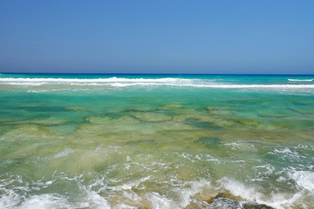 Transparent ocean water in Corralejo on the Canary Island Fuerteventura, Spain. Reklamní fotografie