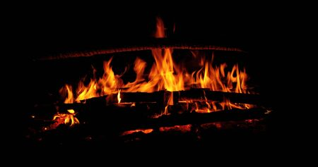a bright flame of fire by night Stock Photo - 5297601