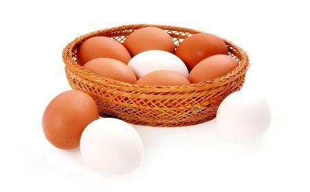Fresh chicken eggs photo