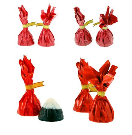 candies in the red packaging on a white background