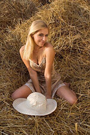 barn girls: beautiful sexual girl in the manger