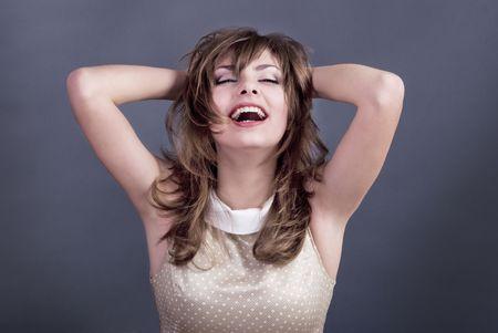 studio portrait of a happy business lady Stock Photo - 6306954