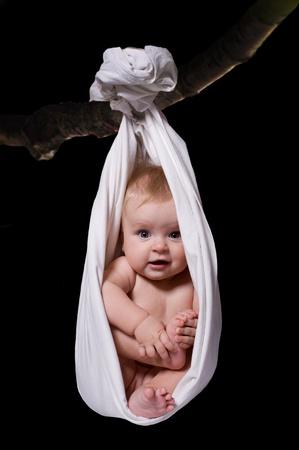 cigogne: Relaxation de bébé