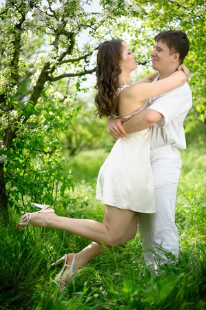 full length portrate of Young couple in love Stock Photo - 10733933