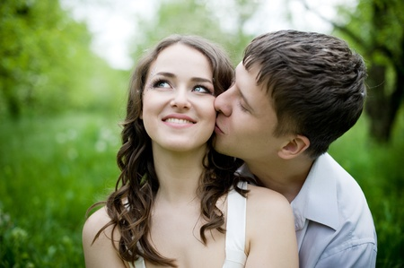 boy and girl hug: Young couple in love