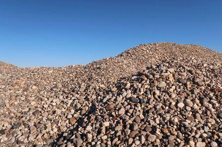 Pile of gravel Stock Photo