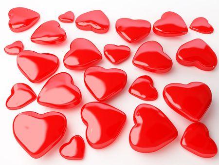 hart: isolated many red hart