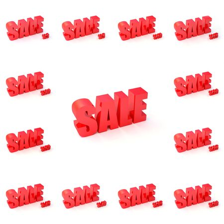 13 in 1 Sale signs with different discount