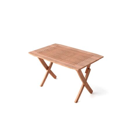 isolated wood table Stock Photo