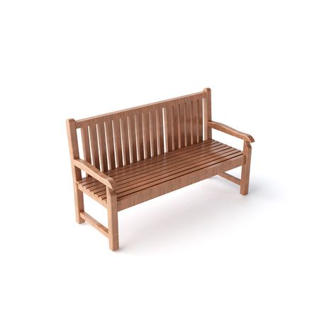 isolated wood bench