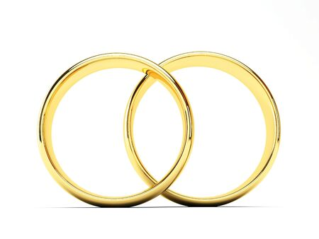 isolated gold wedding rings Stock Photo