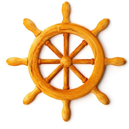 ships wheel Stock Photo