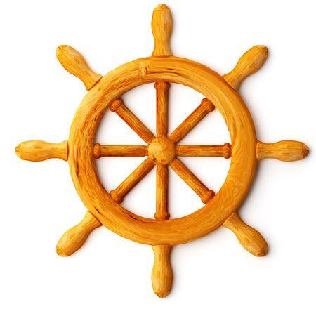 gun control: ships wheel Stock Photo