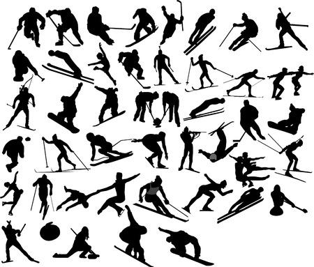 colección de juegos olímpicos de invierno de vectores
