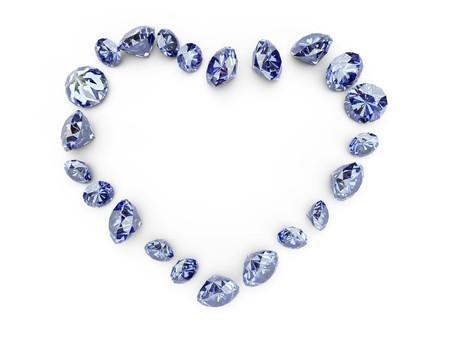 coeur diamant: Diamond Heart Banque d'images