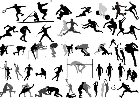 Big Sport collection vector Silhouettes