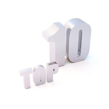 selected: isolated 3d text TOP 10 Stock Photo