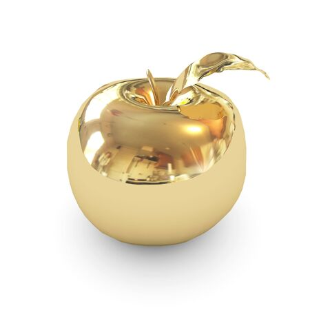 golden apple isolated