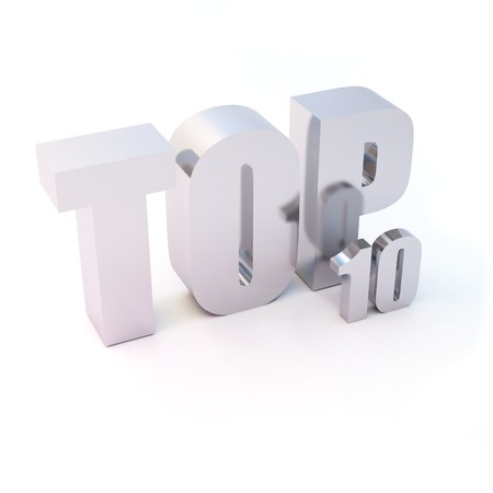 deserve: isolated 3d text TOP 10 Stock Photo