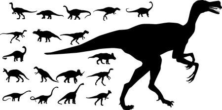A collection of vector dinosaurs Illustration