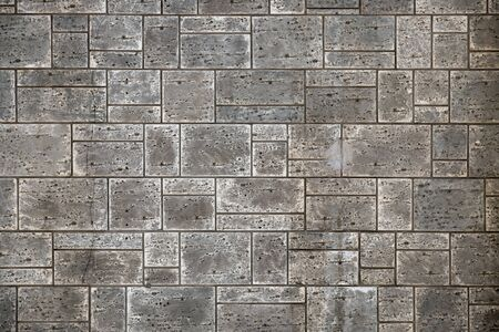 Black and white tone of Nature orange and brown brick wall texture background, material of industry construction.