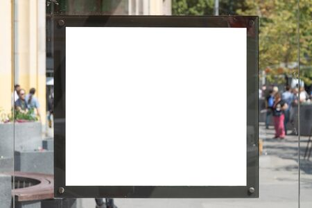 Blank sign at Bus Stop for your advertisement or graphic design