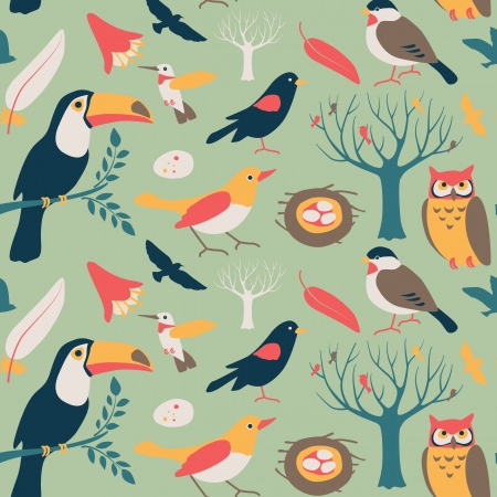 Set of cute bird related icons arranged . Available as vector in Illustrator EPS 10 format with organized and named layers. Also available as high quality large JPEGs. 矢量图像