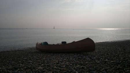 canoe: homemade canoe