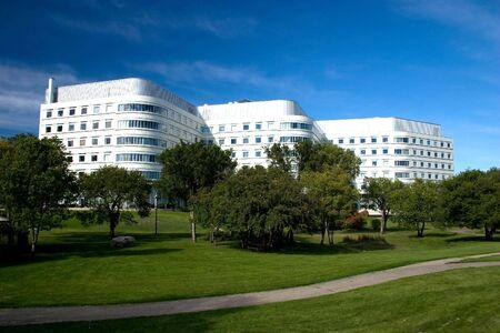 Saskatoon hospital and park. Stock Photo