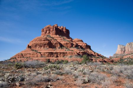 Sedona is characterized by massive red-rock formations, as well as the contrasting areas of Oak Creek Canyon. photo
