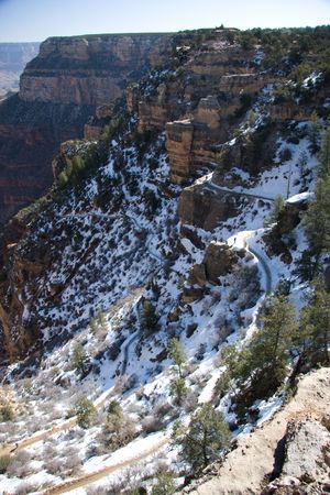 hermits: One of only two fully maintained hiking routes into the Grand Canyon from the south rim, the Bright Angel Trail begins near the main visitor complex, at the start of the Hermits Rest road, and follows the course of Garden Creek, reaching the Colorado aft