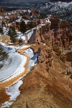 A path leading to the bottom of Bryce Canyon. photo