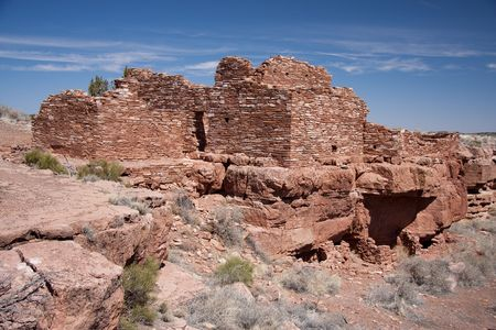 dwelling: A Citadel dwelling found at the Wupatki National Monument in Arizona. Stock Photo