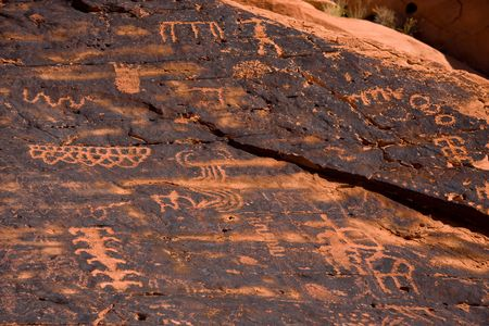 anasazi: Petroglyphs from the Ancient Pueblo Peoples, also known as the Anasazi. Stock Photo