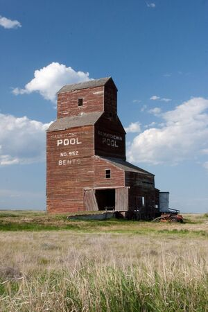 Bents is a ghost town on the Canadian Prairies. photo
