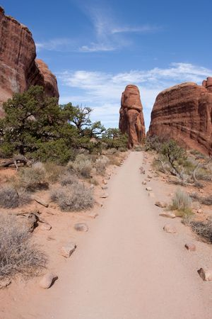 Arches National Park is a U.S. national park in eastern Utah. It is known for preserving over 2000 natural sandstone arches, including the world-famous Delicate Arch, in addition to a variety of unique geological resources and formations.  The park is loc