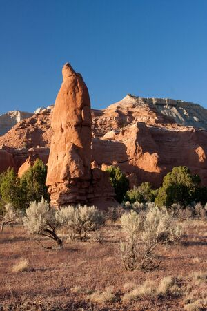 Kodachrome Basin is a spectacle of massive sandstone chimneys, ever-changing from gray and white to shades of red with the day's mood. Stock Photo - 5730053