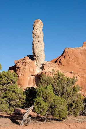 solidified: Kodachrome Basin contains many multi-colored rock formations of red, yellow, pink, white and brown, as well as massive sandstone chimney spires geologists believe to be solidified sediment that filled ancient springs or geysers left standing after the sof