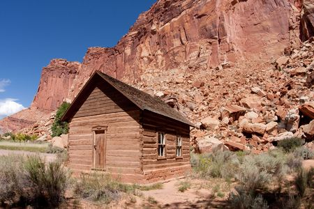 The Fruita School  is a one-room building constructed by residents in 1896, also served as a community center located in Capitol Reef National Park photo
